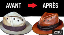 LEATHER HAT DYEING