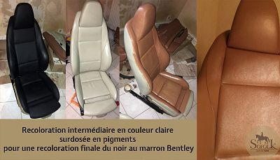 Leather car seat restored