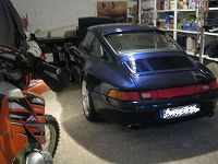 renovation of the 2 front seats, the steering wheel, the central console and the gearshift knob of a porsche 993